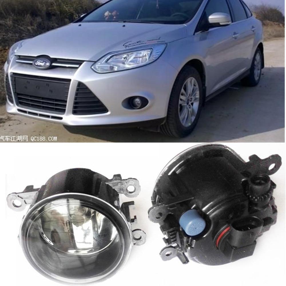 For FORD FOCUS MK3 Saloon Turnier Estate 2011-2015 Car styling Fog Lamps halogen Fog lights 1SET багажник на крышу lux ford focus 2011 1 2м аэродинамические дуги узкие 699475