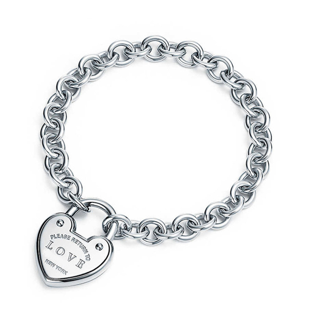 все цены на 100% S925 Sterling Silver Original Eternal Vitality Chain Tiff Bracelet For Women Authentic Fine Jewelry w/Logo love heart tag