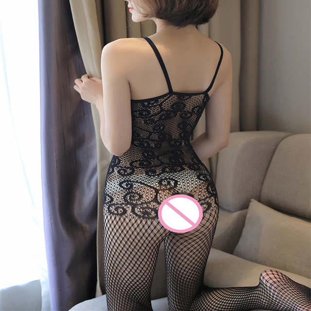 Sexy Mesh Novelty & Special Use Sexy Clothing Sexy Underwear Exotic Apparel Jumpsuit Full Body Stockings Teddies & Bodysuits 10