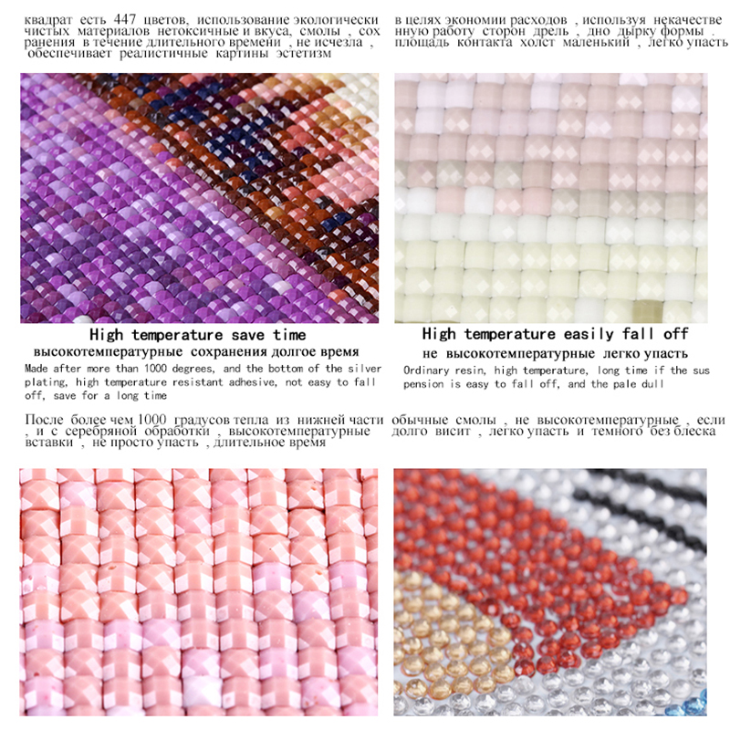 Tam kvadrat Diamond 5D DIY Diamond Rəsm