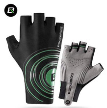 ROCKBROS PRO Road Cycling Gloves Half Finger Lengthen Gel Pad Bicycle MTB Road Bike Gloves Guantes Ciclismo