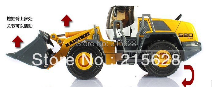 High quality 1:50 mini diecasts alloy loader engineering car vehicle model  toy truck forkfuls+retail package