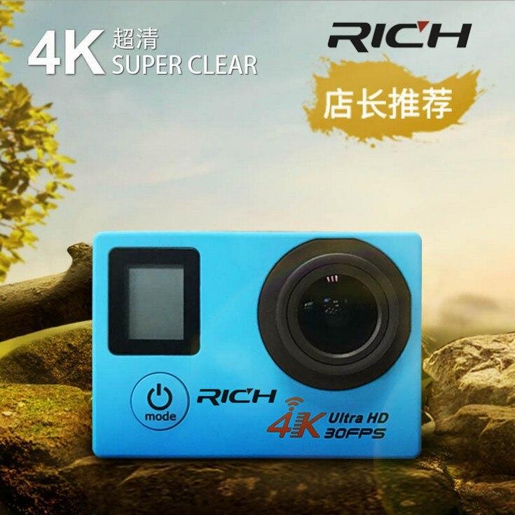 REICHE V903D 4 Karat/30FPS 2,7 Karat Action Kamera LCD Display 16MP WiFi Sport Kamera 30 Mt Wasserdicht mini camcorder 170 winkel Kamera