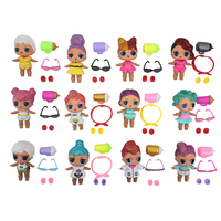 Baby Doll Surprise Ball Toys Action Figure Sister Doll Girls Kids Toy Vinyl Soft Material Surprise Balls Girl Toys Dolls Gifts
