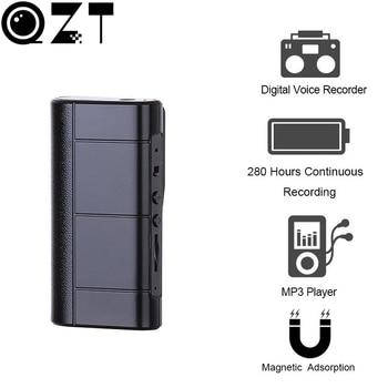 QZT Professional 8GB Digital Audio Voice Recorder LED Light Magnet Dictaphone USB Sound Recording MP3 Mini grabadora de voz