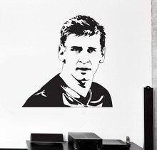 цена на Wall Vinyl decal Lionel Messi sports football FC Barcelona mural, football club, dressing room wall decoration  ZQ29