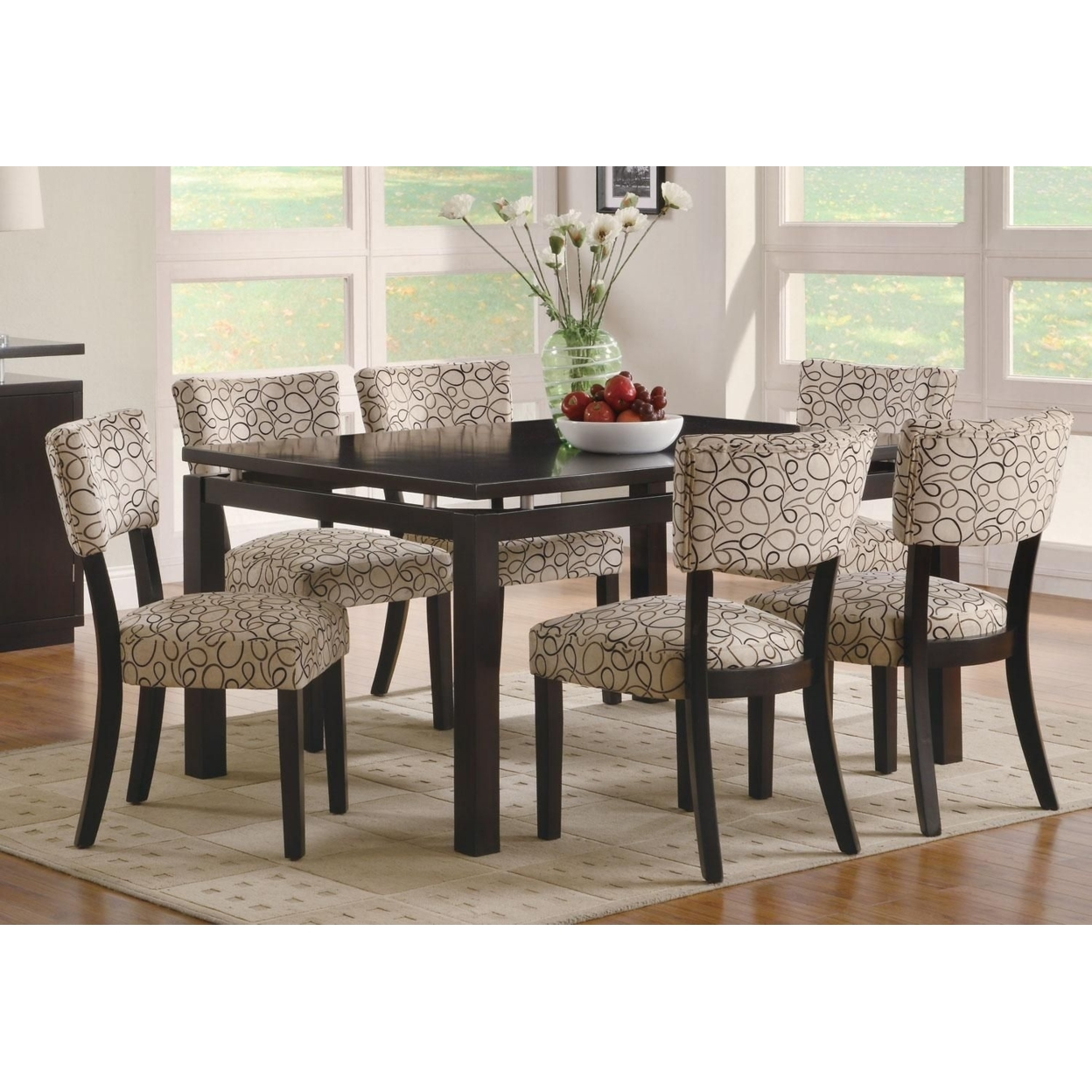 Transitional Style Floating Top Dining Table In Dining