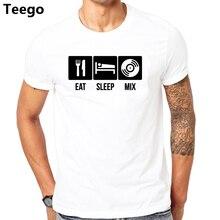 3478c2ea EAT SLEEP MIX MENS TSHIRT FUNNY DESIGN DIGITAL PRINTED BASIC TOP TEE DJ  PRODUCE NEON CLUB