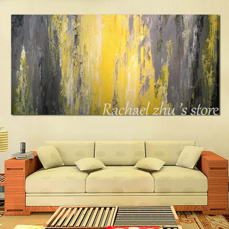 Hand Painted Modern Abstract Textured Thick Oil Painting on Canvas ...