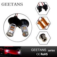 GEETANS 2pcs Lot T20 7440 7443 S25 Bau15s 1156 42 Led Light Switchback LED Turn Signal