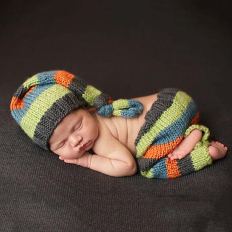 Hand knit Baby Wool Hat Baby Cap Newborn Photography Props Handmade Knitted Wild Child
