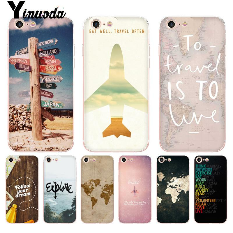 5b76bedc36 Yinuoda For iphone 7 6 X Case World Map Travel Plans High Quality Phone  Accessories Case