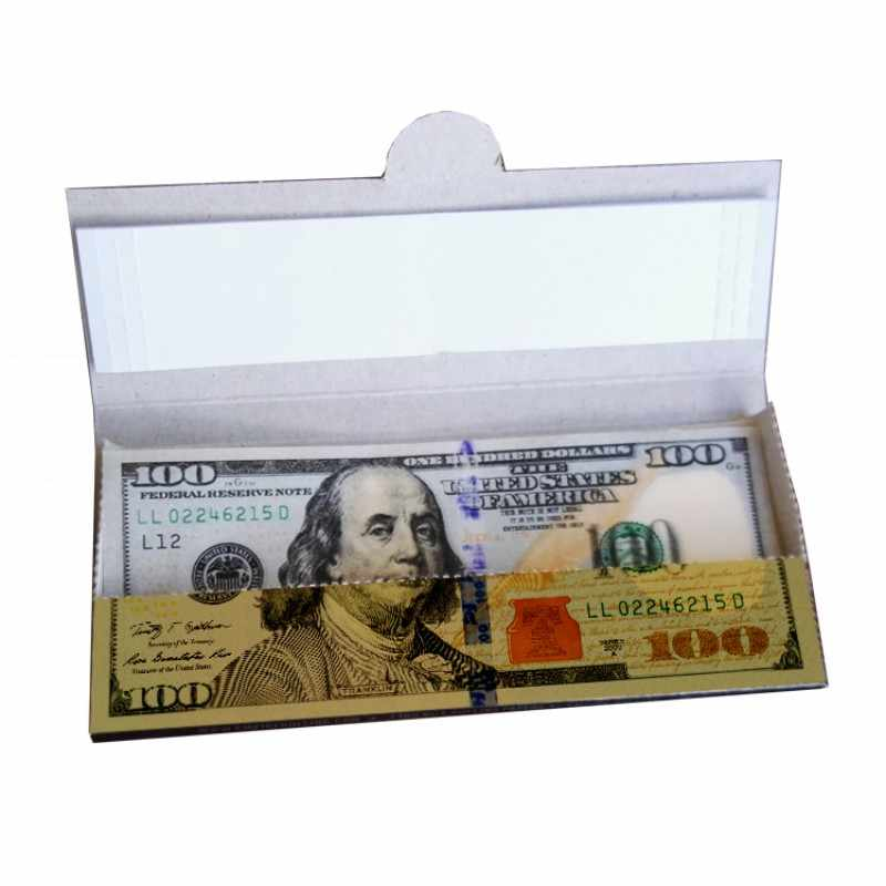 10PCS/Box DIY Dollar Bills Fake Money Rolling Paper Classic Arts Scrapbooking Papers for Cigarette Tobacco Smoking Accessories