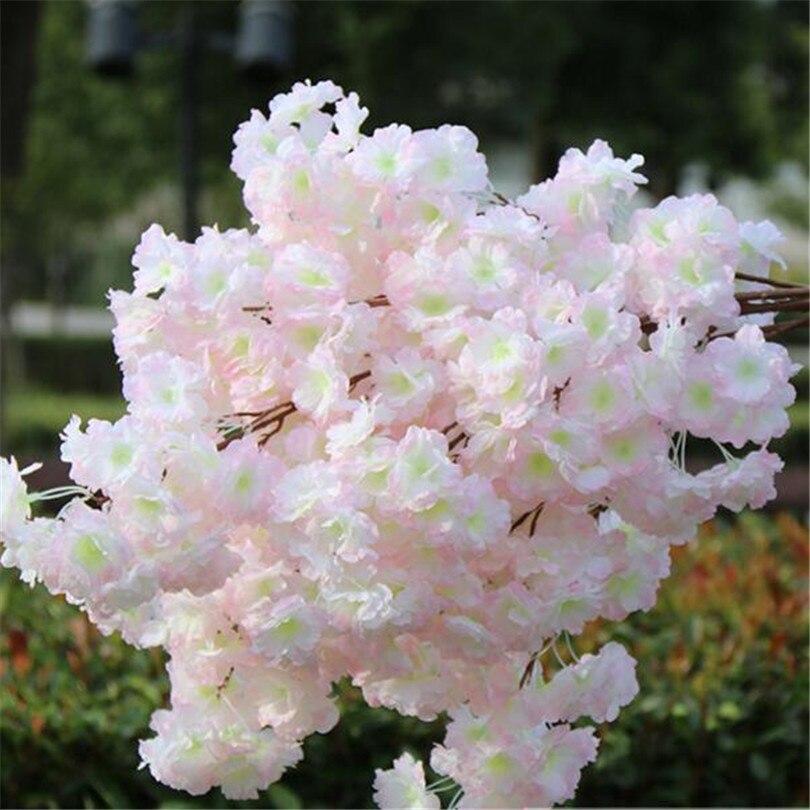 18pcs 인공 벚꽃 지점 가짜 사쿠라 꽃 줄기 더 많은 꽃 머리 12 색 결혼식 사쿠라 트리 장식-에서인공 & 건조 꽃부터 홈 & 가든 의  그룹 3