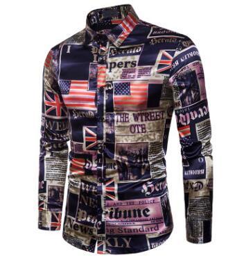 European Fashion Men's Plaid Shirts Autumn And Winter Glitter Big Body Point Scale Night Shop Design Men's Long Sleeve Shirt 10