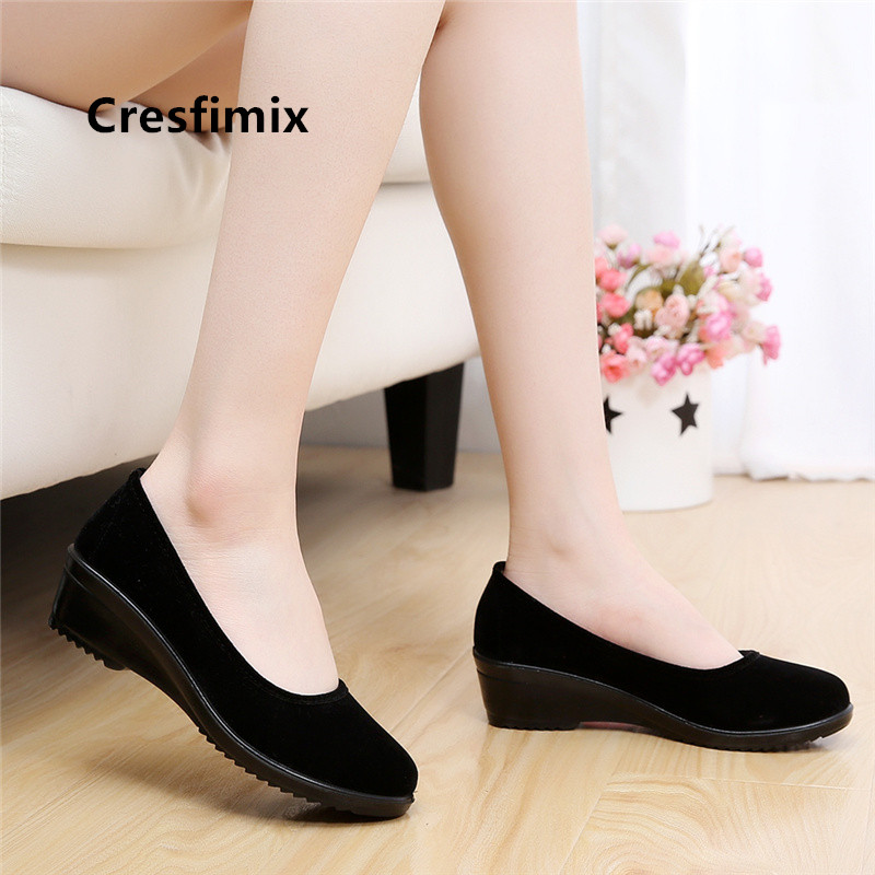 Cresfimix women cute black spring slip on slip on loafers lady casual retro dance shoes female summer shoes zapatos mujer a5054Cresfimix women cute black spring slip on slip on loafers lady casual retro dance shoes female summer shoes zapatos mujer a5054