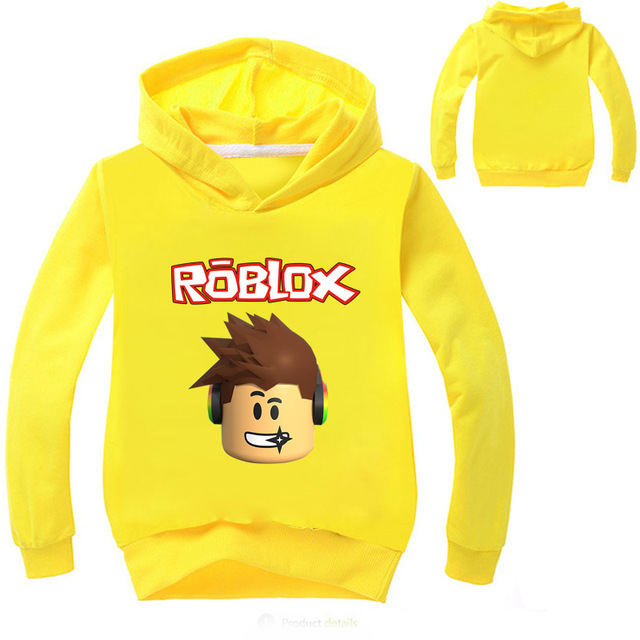 YLS 2-14Years Roblox Shirt Boys or Girls Hoodies and sweatshirts Pullover 3