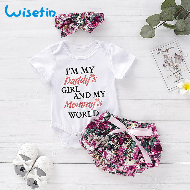 Newborn baby girl clothes carters baby girl clothing sets 2019 summer floral baby girl romper with lace skirt bebes headbandsD40