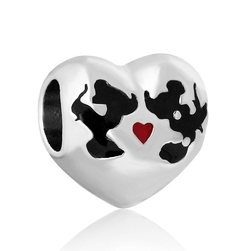 pandora minnie & mickey kiss disney charm