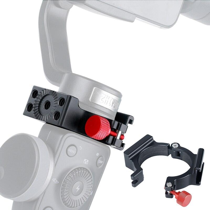 Zhiyun Suave 4 Acessórios Anel Mount Holder Grampo w Sapata Fria para Videomakers de Microfone Luz de Vídeo LED Monitores de Campo Móvel