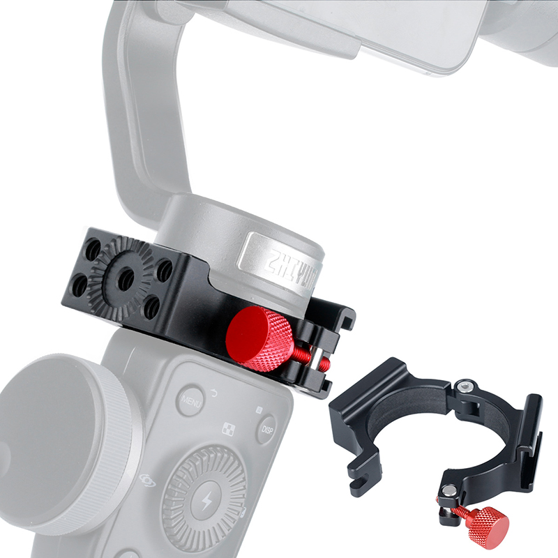 Zhiyun suave 4 acessórios anel montar titular braçadeira w sapato frio para microfone led luz de vídeo monitores campo móvel videomakers