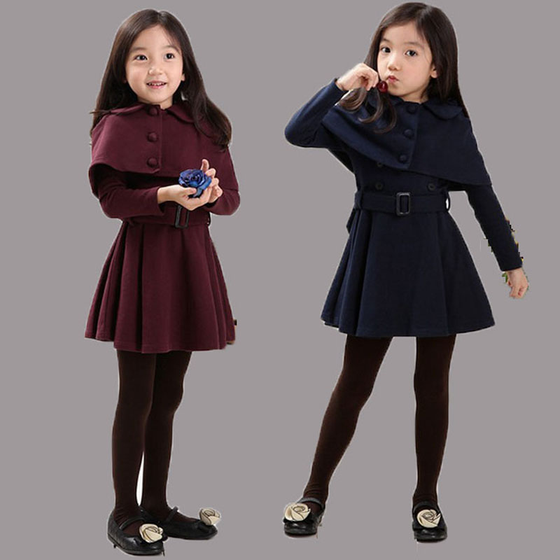 Winter Dress Girl Fashion Coat Girl Casual Girl Coat Cloak ...