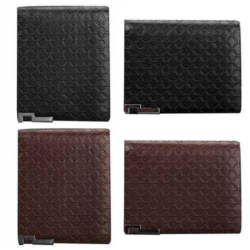 Cool Bell Men s Short Faux Leather font b Tartan b font Pattern Zipper Wallet Card