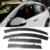 Stylingg toldos abrigos 4 pçs/lote viseiras da janela do carro para honda vezel vfc 2014-2016 sol chuva escudo adesivos covers