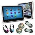 2 pçs/lote 10.1 Polegada Tela de Toque Monitor de Encosto de Cabeça Do Carro DVD Player 1024*600 2 IR Crianças Fones De Ouvido + remoto controle