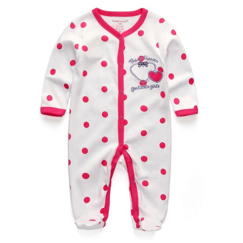 Для маленьких девочек сна; одежда для сна с мультяшным рисунком для малышей Детские пижамы хлопок Длинные рукава Детские пижамы с надписью «i love daddy» детские комбинезоны с рисунками - Цвет: baby thanks