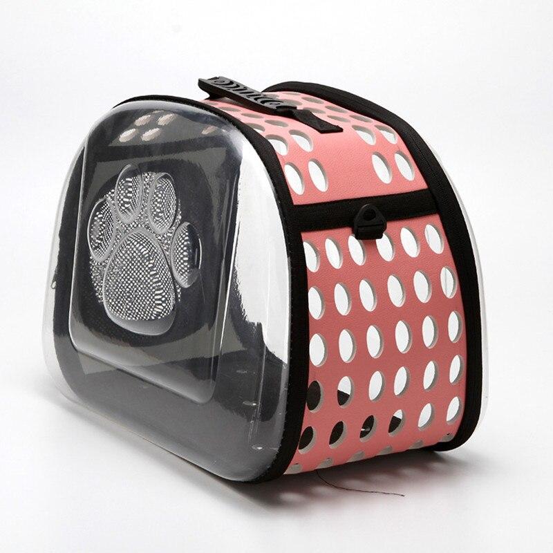 Petminru Transparent Cat Dog Carrier Bag Breathable Pet Travel Handbag Foldable Outdoor Shoulder Bags Puppy Travel Carrying Bags #4