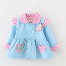 GIRLS clothing 2017 Spring Models Korean Girls Cotton Windbreaker Baby Jacket Baby Clothing Girls coats