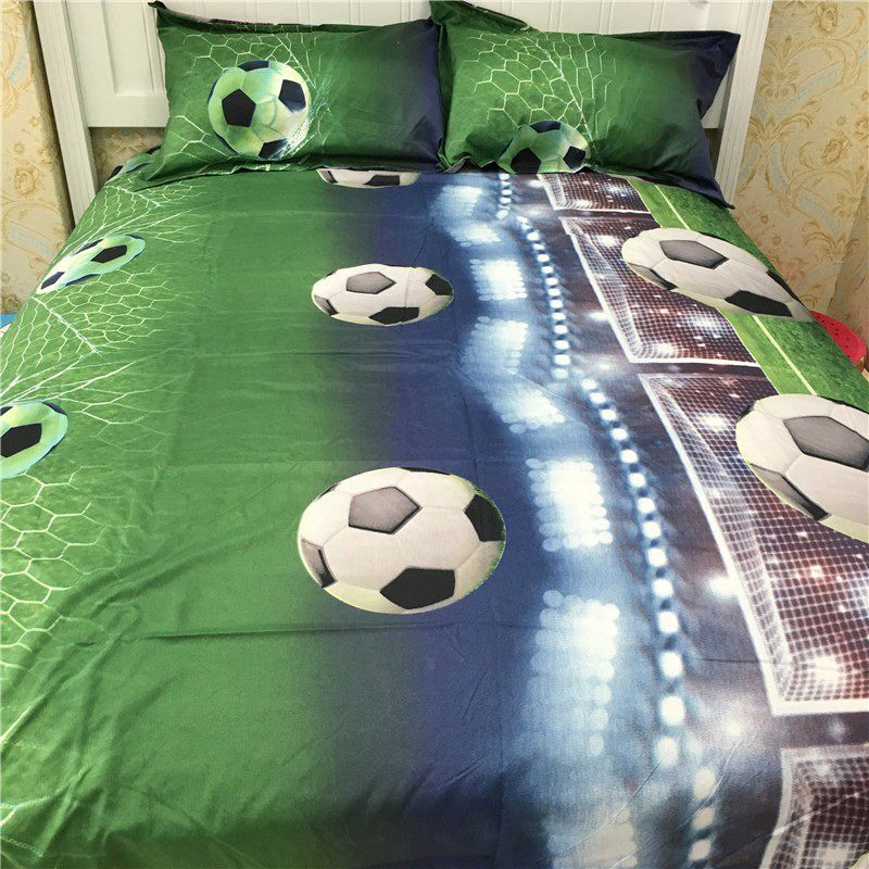 Football Bed Sheets 3D Bedding Sets Quilt Duvet Cover Bed In A Leaf Of Bag Spread BedsPread Bedset Pillowcase Queen Size Doubl