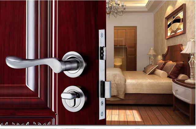 Invisible Door Interior Room Door Lock European Style Bedroom Door Lock  Bedroom Handles Locks Hardware Accessories