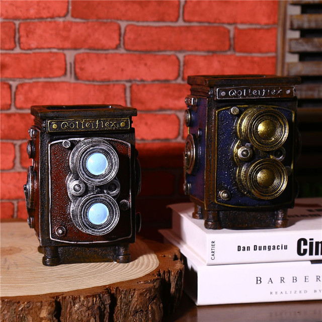 Vintage Table Craft Multifunction Camera Model Craft Storage Box Flower Pot Pen Holder Case Cube Camera Gift Novelty Craft 4