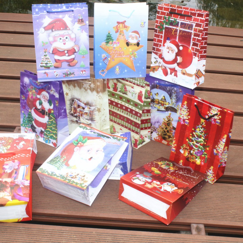 Buy packing bags 12pcs christmas paper for Christmas decoration suppliers