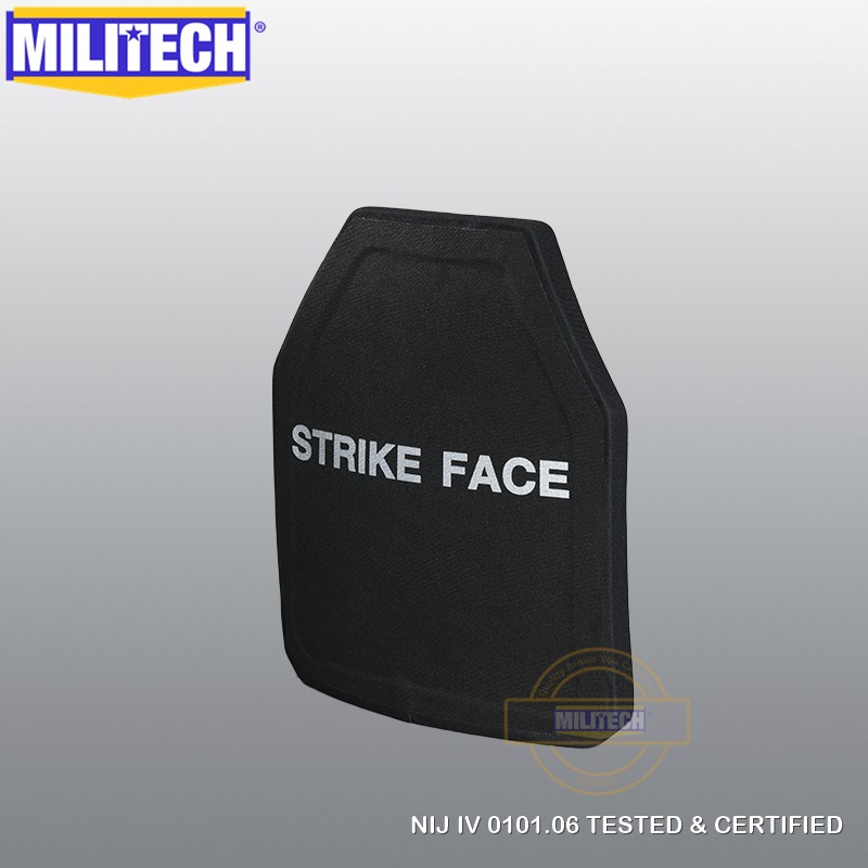 US $264 99 |MILITECH SIC & PE Multicurve Lvl 4 Bulletproof Panel NIJ IV  Stand Alone Ballistic Panel NIJ level 4 Body Armor Plates FREE SHIP-in Self