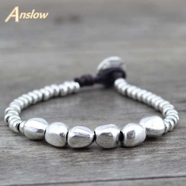Anslow 2017 Classic Unisex Strand Bracelets Bijoux Leather Rope Bracelet Couple Friendship Bracelets Birthday Day Gift LOW0496LB