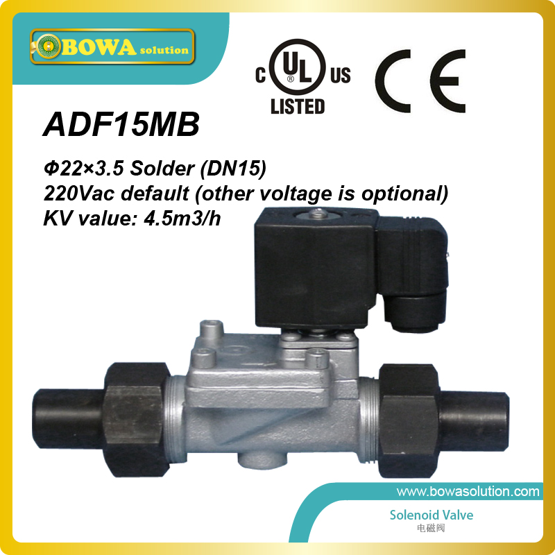 Stainless Steel Solenoid valves  with UL/cUL and CE  Suitable for ammonia, HFC, HCFC, clean water,  less 4 viscosity machine oil