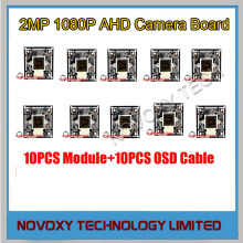 DIY AHD 10PCS/LOT 2MP 1080P IMX323 CMOS+2441H DSP CCTV PCB Board With OSD Cable Camera Module Free Shipping