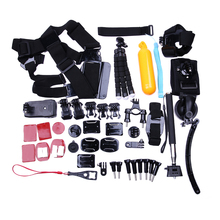 5 In 1 Sports Camera Accessories 360 Degree Rotation Strap Head Chest Mount Floating Kit for GoPro SJ4000 Session Camera