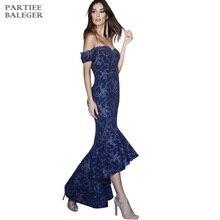 Новое поступление шикарный дизайн с вышивкой сексуальные с плеча короткие рукава, оборки знаменитостей вечерние Клубные Бандажное длинное платье
