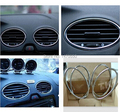 air conditioning ABS chrome trim outlet decoration for Ford Focus 2 2006 2007 2008 2009 2010 2011 car accessories