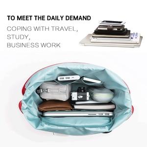 Image 4 - Original 90 สนุกอาจารย์ที่เดินทางมาพักผ่อนไนลอนกระเป๋าเป้สะพายหลัง Urban สไตล์เรียบง่ายกระเป๋ากันน้ำขนาดใหญ่ความจุกระเป๋าเดินทาง 13.3 นิ้วแล็ปท็อป