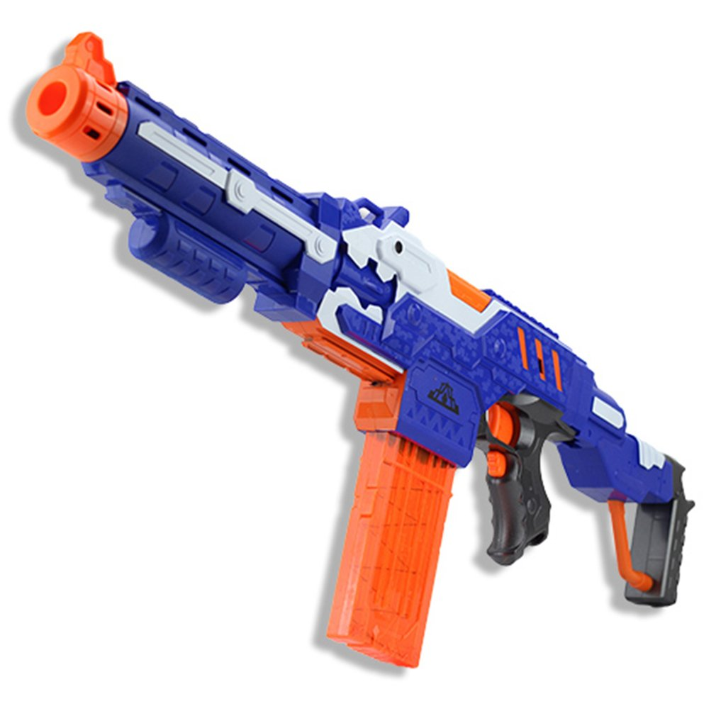 Electric Soft Bullet Toy Gun For nerf Shooting Submachine Gun Weapon Soft Bullet Bursts Gun Funny Outdoors Toys For Kid With Box недорго, оригинальная цена