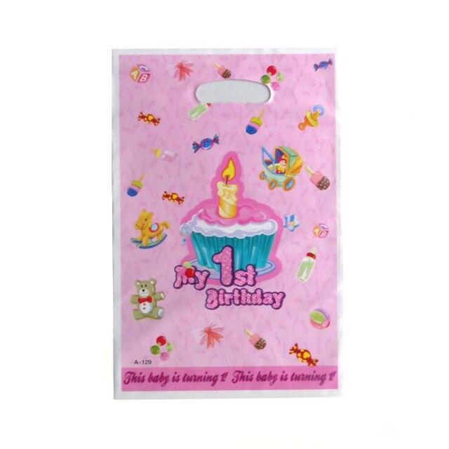 10 Stkspak Baby Meisjes 1st Verjaardag Thema Partij Buitzak