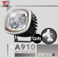 High Quality LYC For Jeep Headlights Jeep Light Kit Led Round Led Clear Red Reflector High