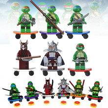 6pcs Turtle Building Blocks Leonardo Raphael Action Figure Michelangelo Donatello Compatible with LegoINGlys Toys for Children(China)