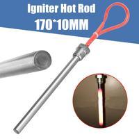 10*170mm 350 w 220 v igniter quente haste lareira pelota fogão parte madeira pelota single end tubo de aquecimento para churrasco grill fogão parte|Peças p/ aquecedor elétrico de água| |  -