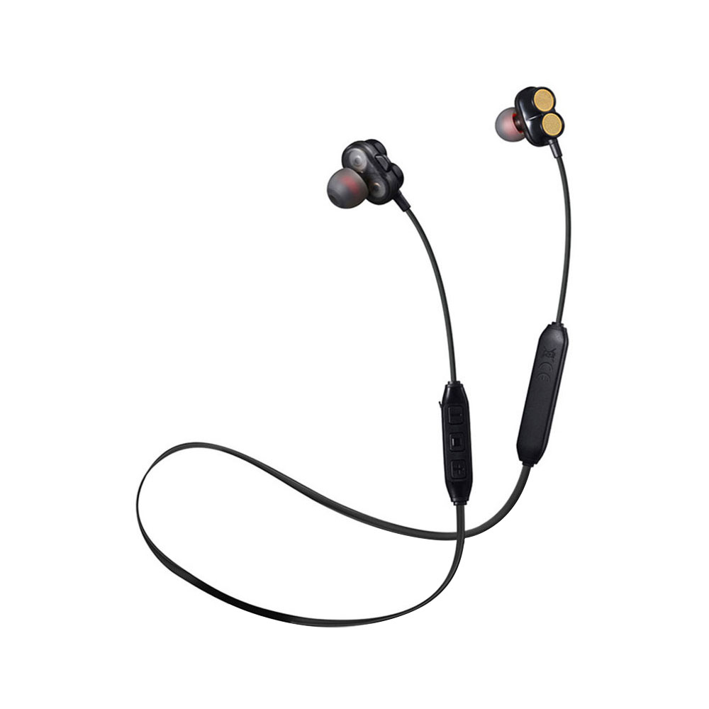 Гарнитура в деловом стиле на открытом воздухе четыре Trumpets в ухо музыкальные наушники мобильный телефон Handfree BT4.2 стерео Беспроводная bluetooth-гарнитура - Цвет: black